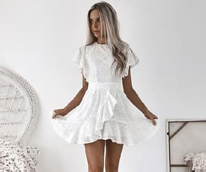 homecoming dresses, party dress white, and party dress a-line image