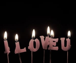 candle, love, and I Love You image