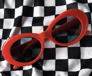 goggles, clout, and red image