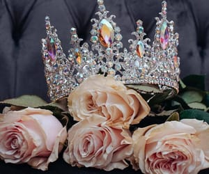 crown, flowers, and goals image