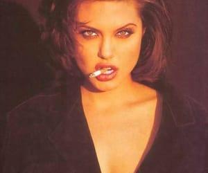 Angelina Jolie and smoke image