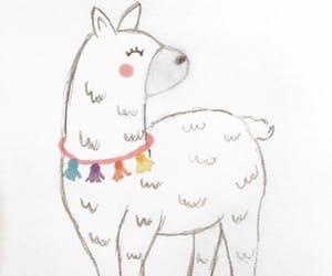 alpaca, kawaii, and llama image