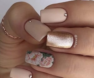 nails, nail art, and floral image