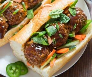 recipe, sandwich, and vegan image