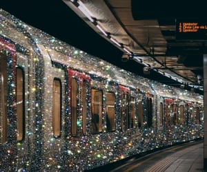 train, aesthetic, and glitter image