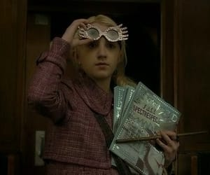 evanna lynch, glasses, and harry potter image