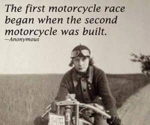 bikers, antique photograph, and historical photo image