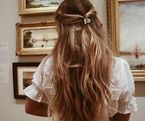 hair, girl, and art image