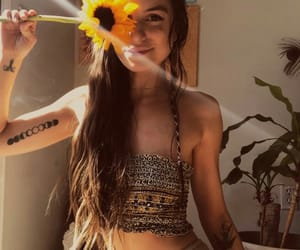 hippies, hippy, and sunflower image