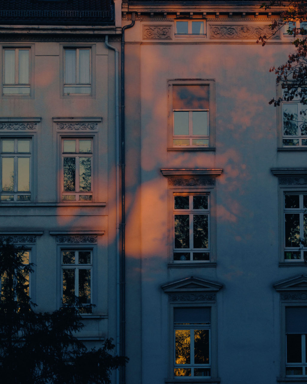 building, aesthetic, and sunset image