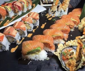 delicious, restaurant, and seafood image