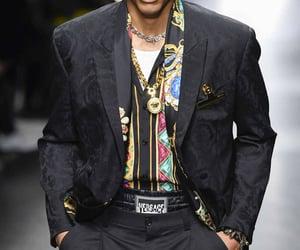 menswear, Versace, and mfw image
