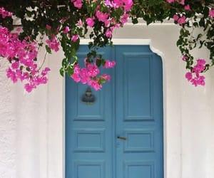 door, Greece, and blue image