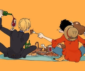 one piece, luffy, and sanji image