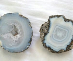 blue, crystal, and rock image