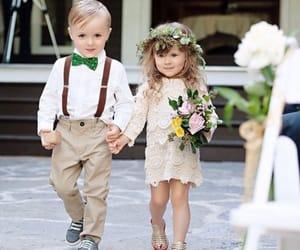 wedding, couple, and children image