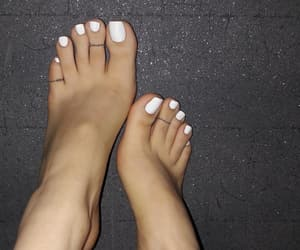 feet, pedicure, and toes image