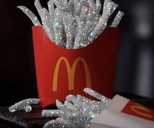 fries, glitter, and silver image
