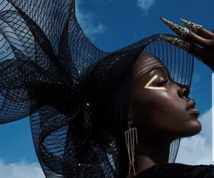 gold, makeup, and model image