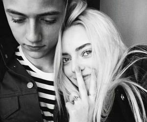 lucky blue smith, black and white, and pyper america image