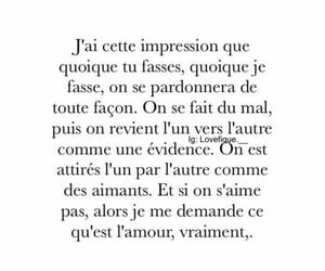 amour, francais, and citation image