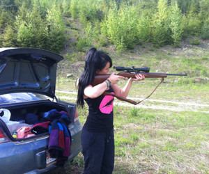 black, gun, and pink image