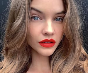 beauty, face, and red lips image