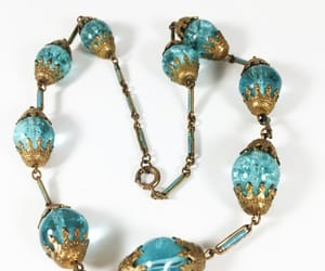 crystal beads, gold tone, and etsy image