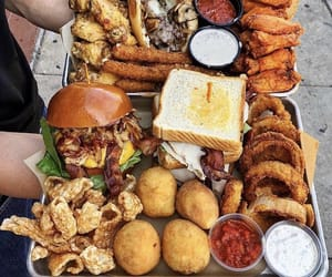 food, fried, and fries image