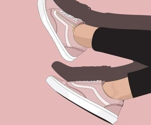 wallpaper, pink, and vans image