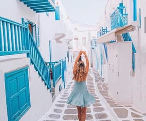 girl and Greece image