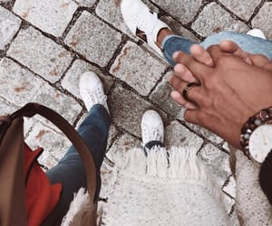 couple, hands, and outfit image