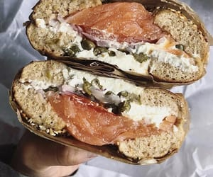 bagel, delicious, and seafood image