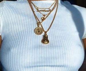 accessories, chains, and gold image