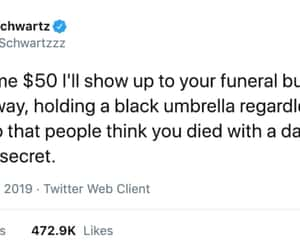 funeral, funny, and life image
