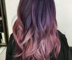 colored hair, hair, and pink image