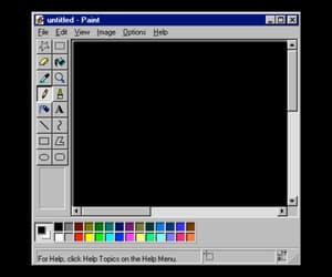 computer, overlay, and paint image