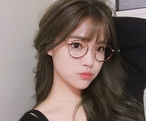 asian, girls, and glasses image