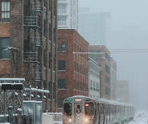 aesthetics, snow storm, and train station image