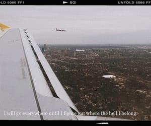 city, far away, and plane image