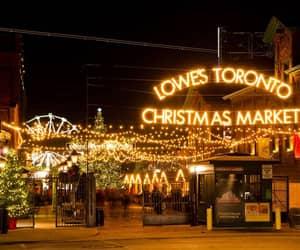 canada, lights, and christmas image
