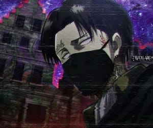 attack on titan, levi ackerman, and trap anime image