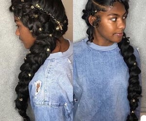 beauty, black girl, and hairstyles image