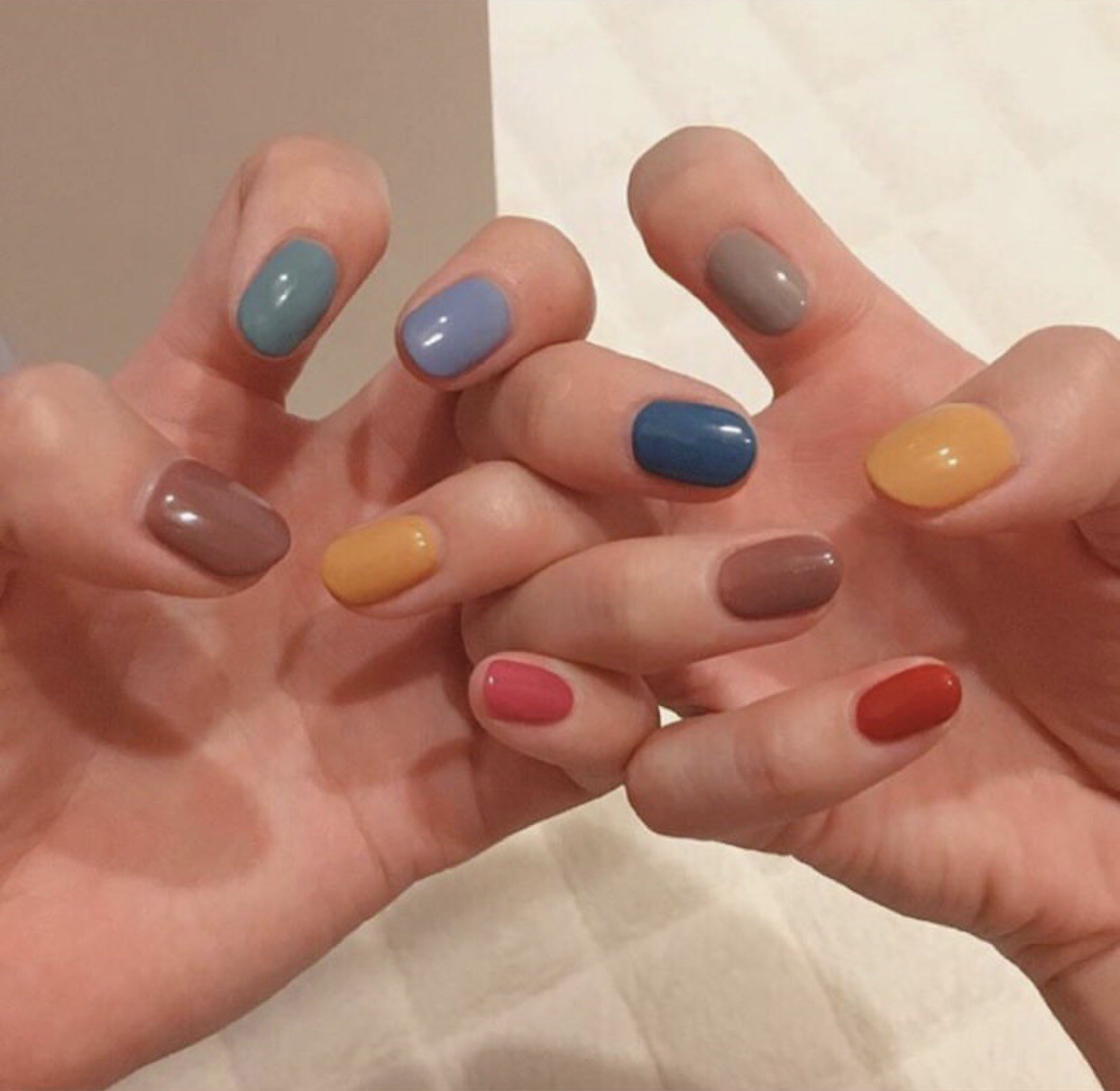 nails, aesthetic, and colors image