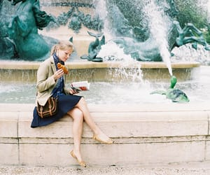 girl, fountain, and vintage image