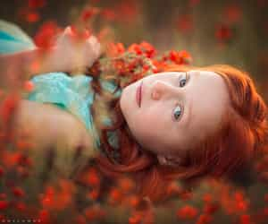 photography, red hair, and young girl image