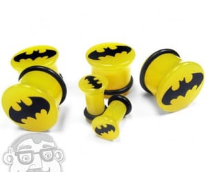 batman, stretched ears, and Plugs image