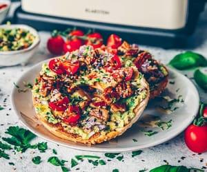 avocado, bagel, and food image