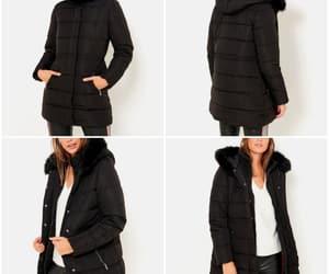 black, winter, and doudoune image