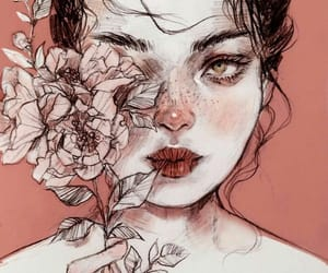 flower and girl image